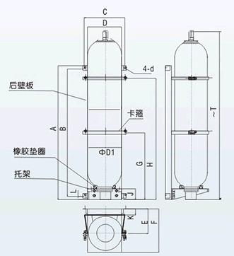 蓄能器固定组件外形结构