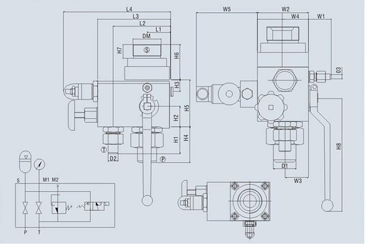 蓄能器控制阀组外形尺寸