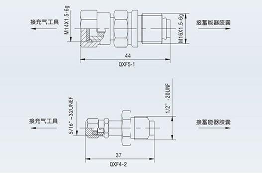 蓄能器充气阀外形尺寸