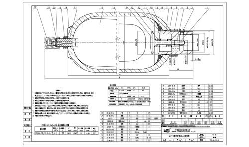 浅谈autocad设计蓄能器图片