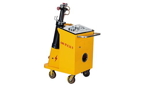 Accumulator nitrogen filling vehicle operation steps